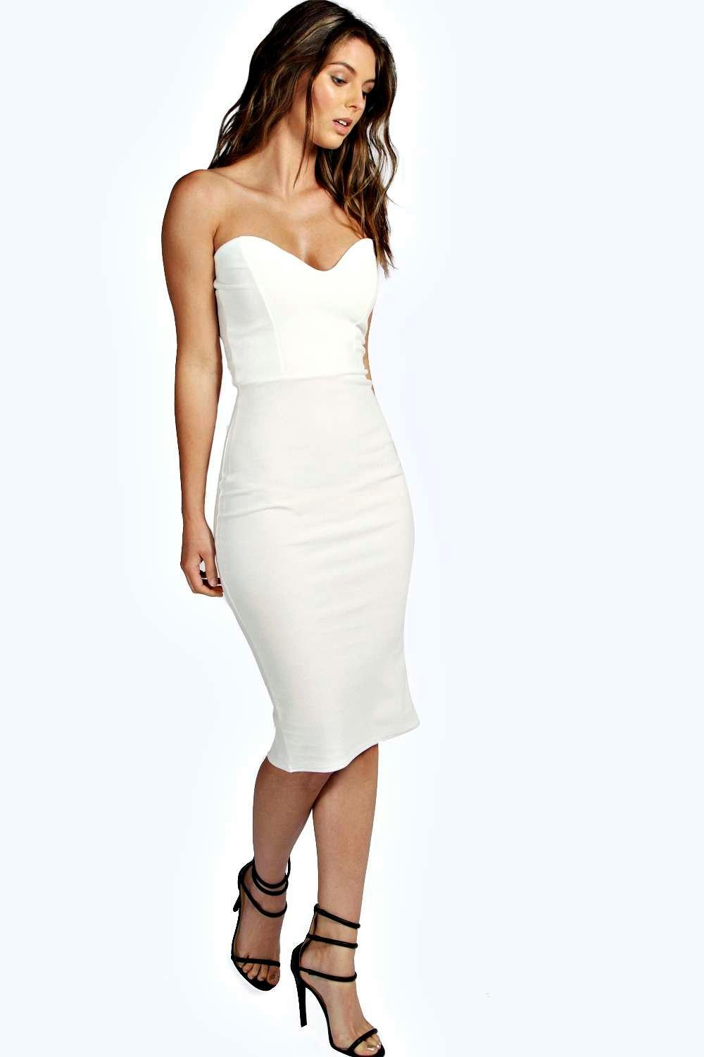 Viola Crepe Bandeau Bodycon Dress