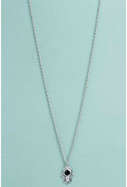 Hayley Hamsa Hand Skinny Necklace