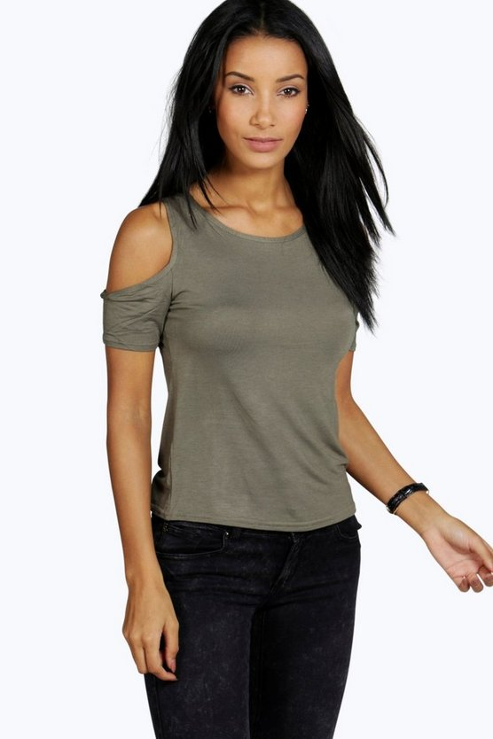 Eliza Cold Shoulder Tee