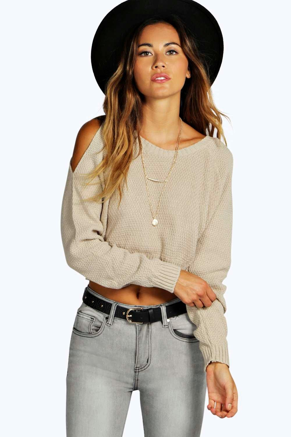 Sofie Cold Shoulder Crop Jumper