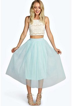 Boutique Sophie Tulle Mesh Full Circle Midi Skirt