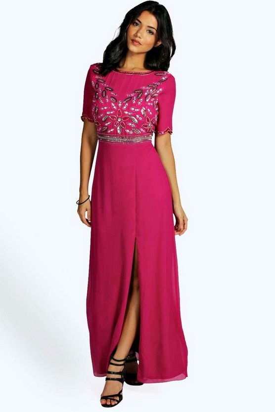Rose Boutique Embellished Maxi Dress