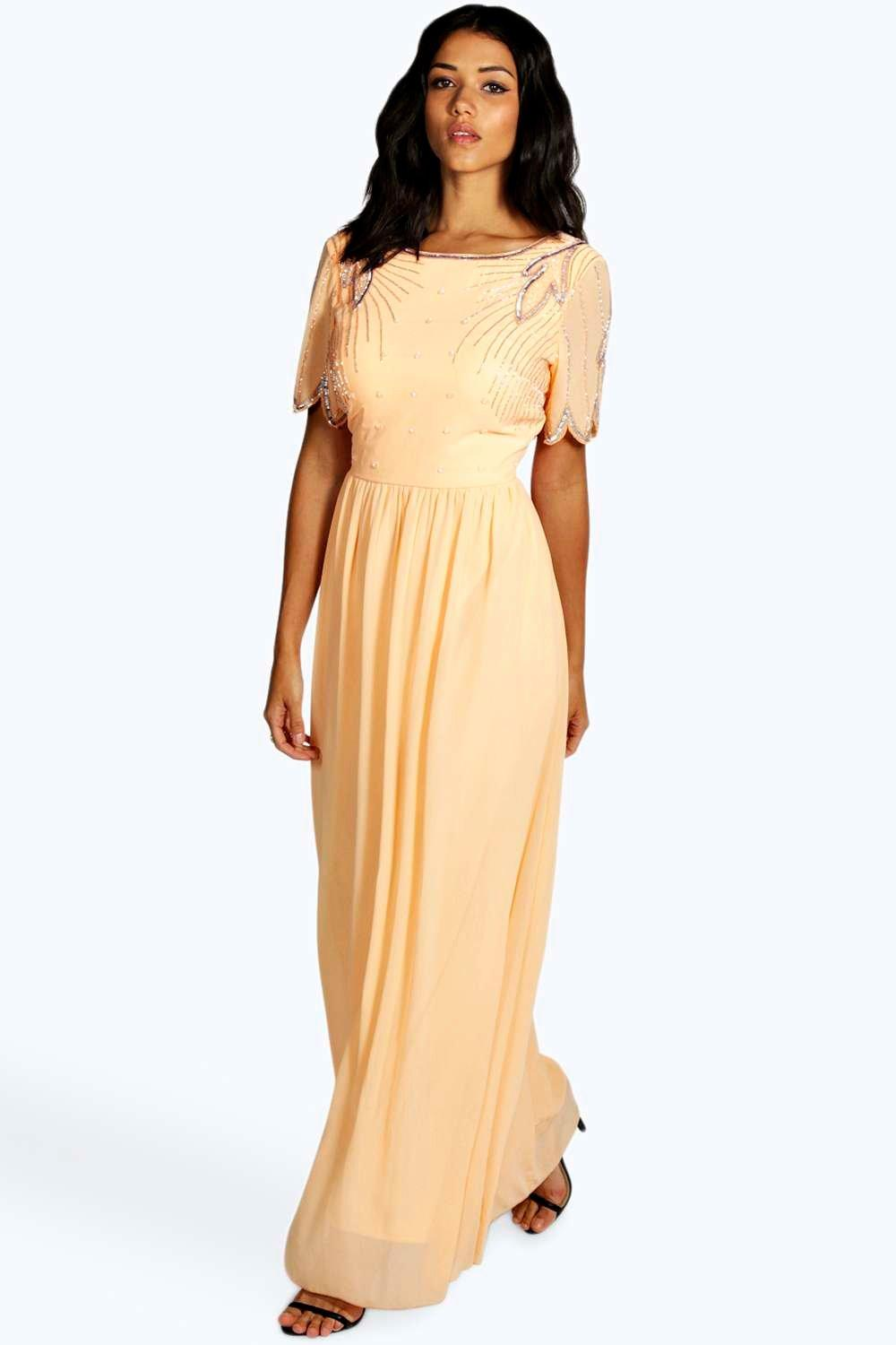 Leah Boutique Embellished Maxi Dress