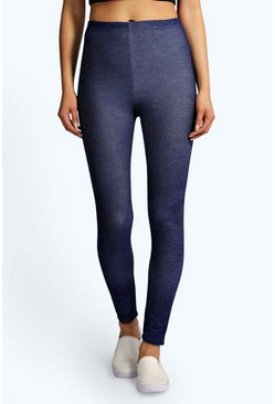 Layla Denim Look Indigo Leggings