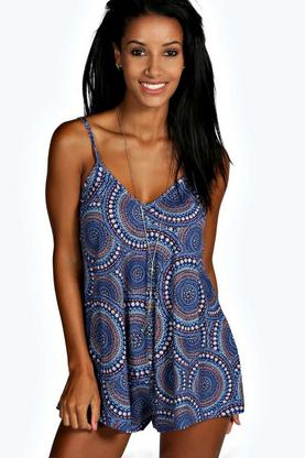 Ellie Ethnic Print Swing Playsuit