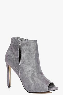 Emilia Cut Work PeepToe Shoe Boot