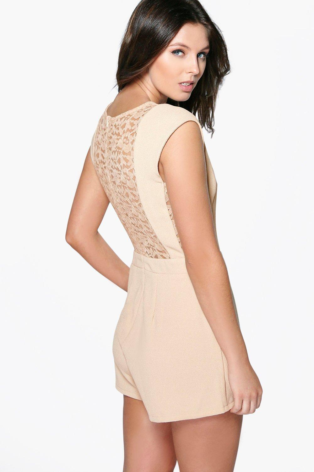 Lottie Lace Back Woven Playsuit
