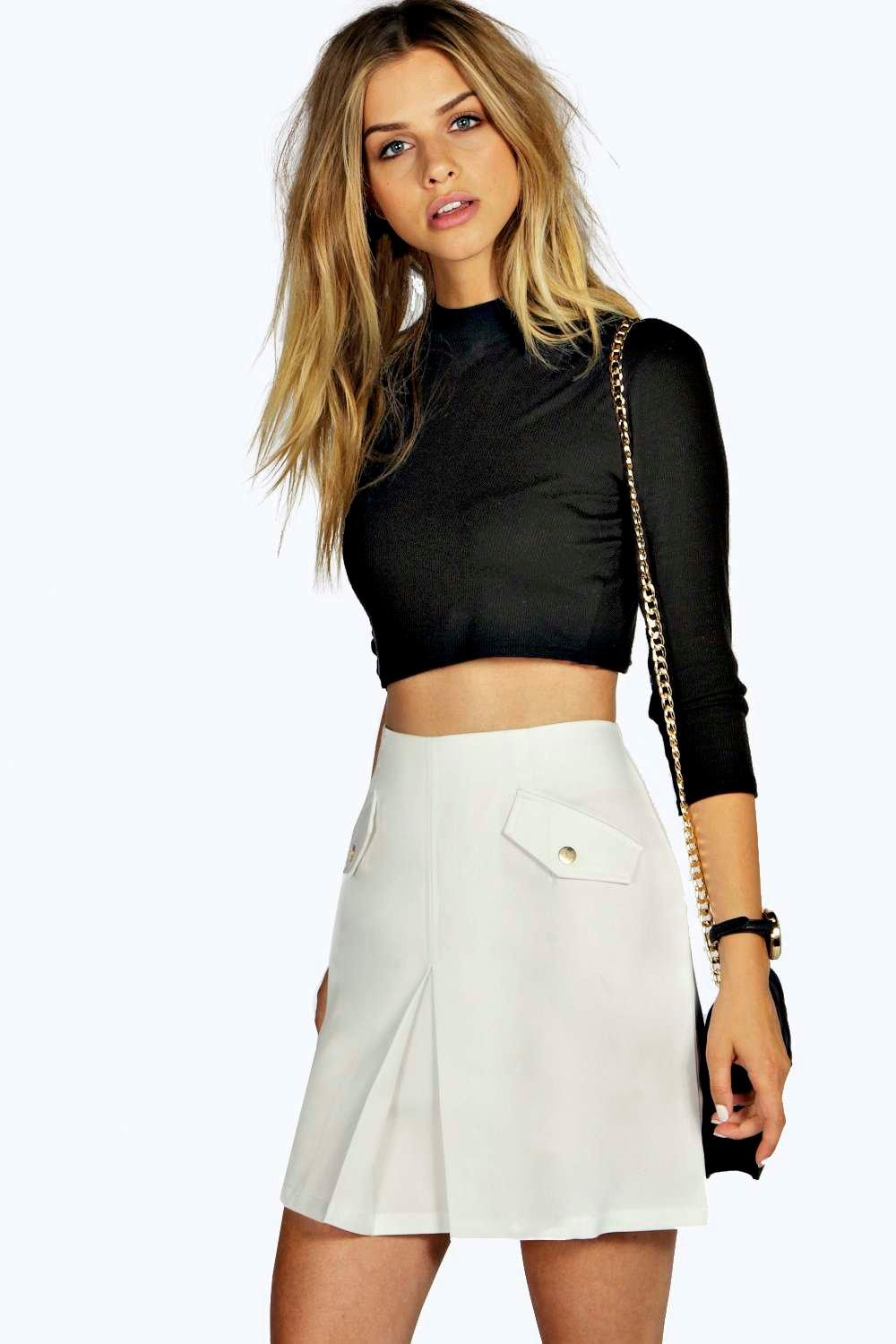 Mia High Waisted Woven Mini Skirt
