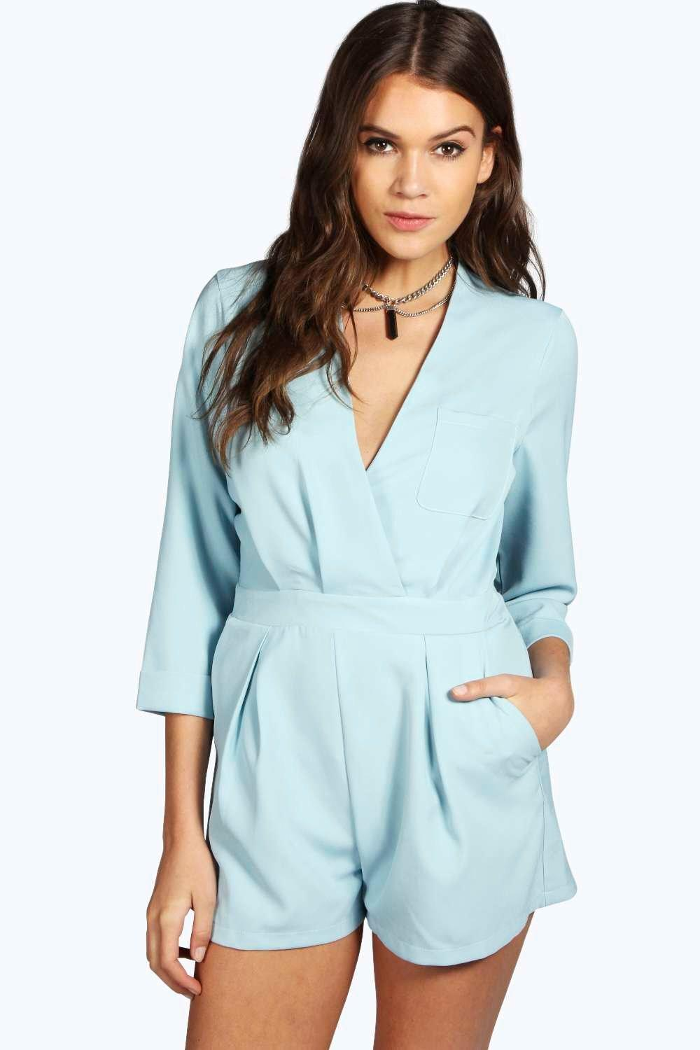 Wendy Wrap Front Woven Playsuit