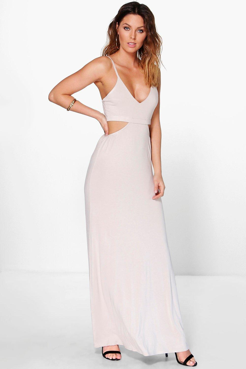 Milly Cut Out Strappy Maxi Dress