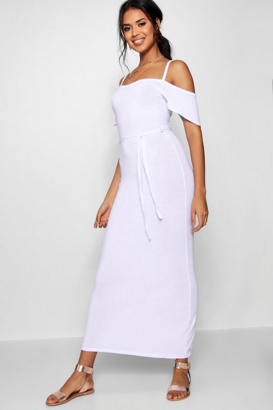 Open Shoulder Maxi Dress