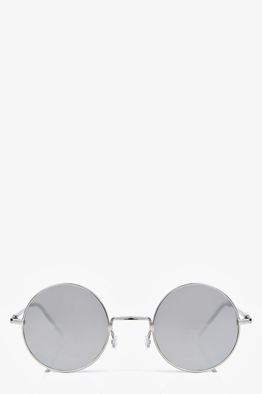 Sarah Round Mirrored Sunglasses