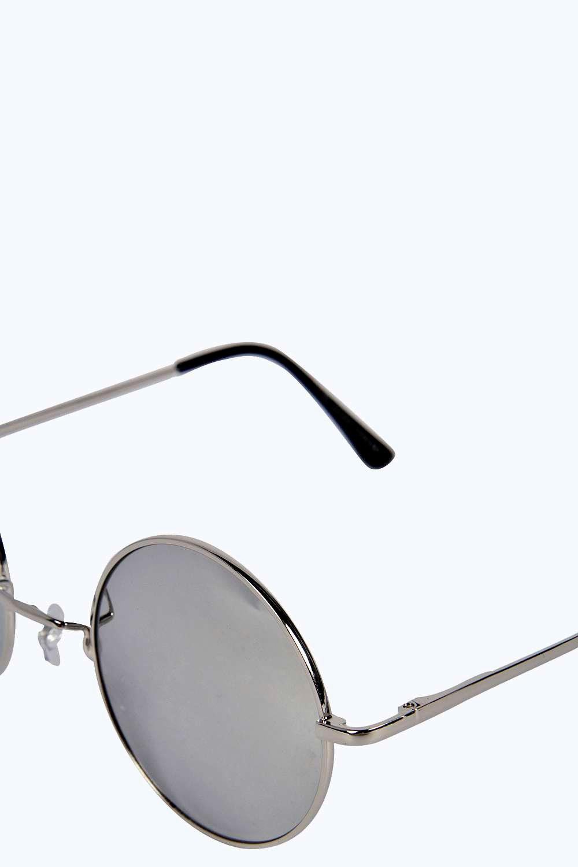 boohoo damen sarah runde verspiegelte sonnenbrille ebay. Black Bedroom Furniture Sets. Home Design Ideas