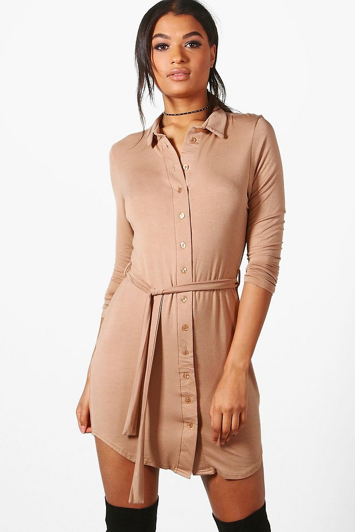 Catalina Button Through Collar Shirt Dress
