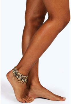 Tia Coin And Chain Anklet