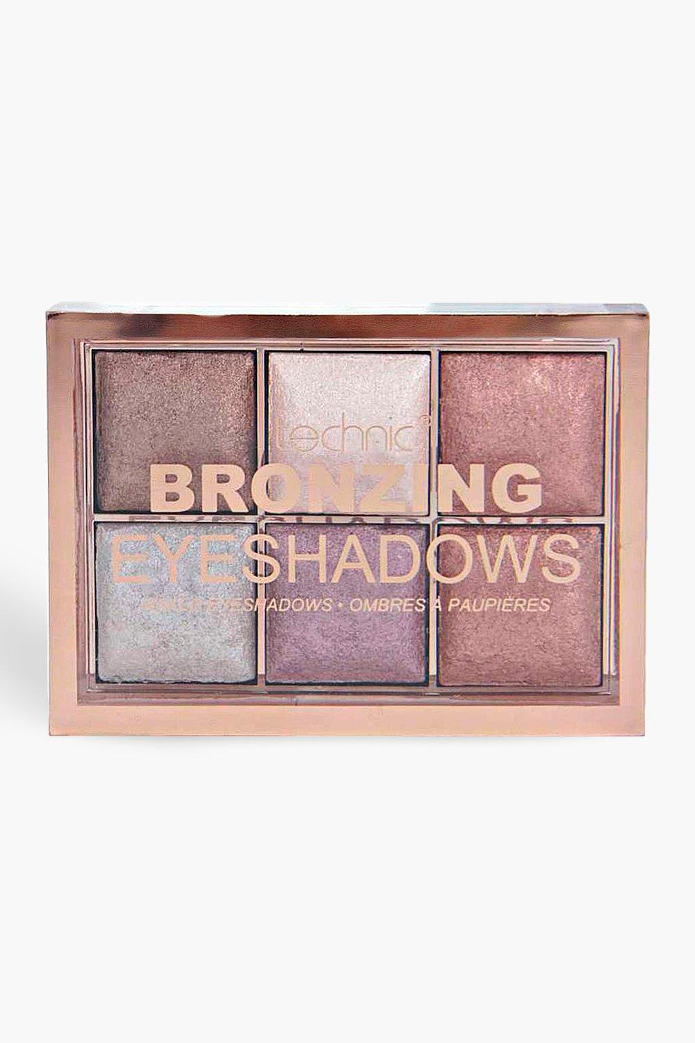 Technic Womens Technic Bronzing Eyeshadow Palette - Brown - One Size, Brown