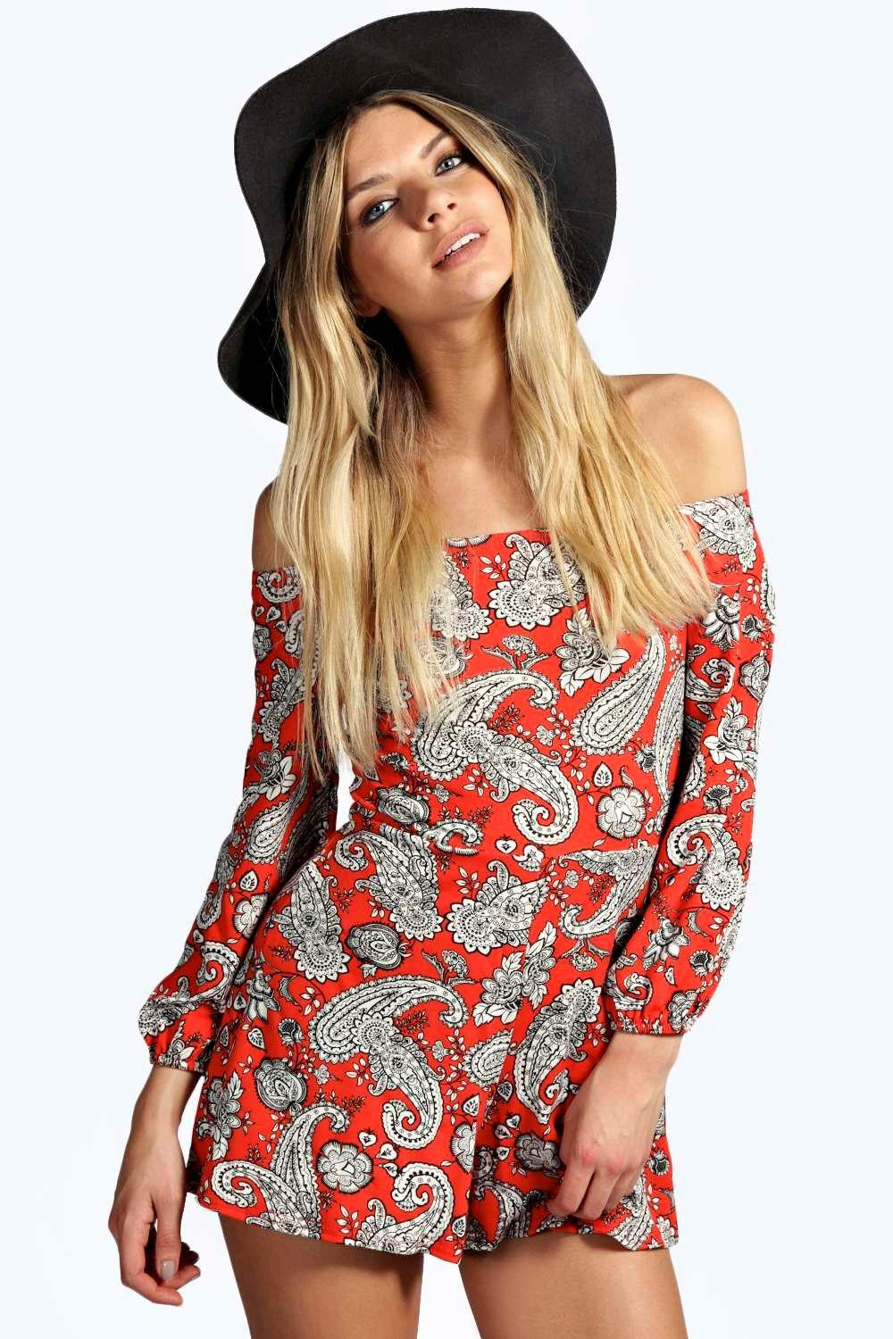 Joni Paisley Off The Shoulder Playsuit