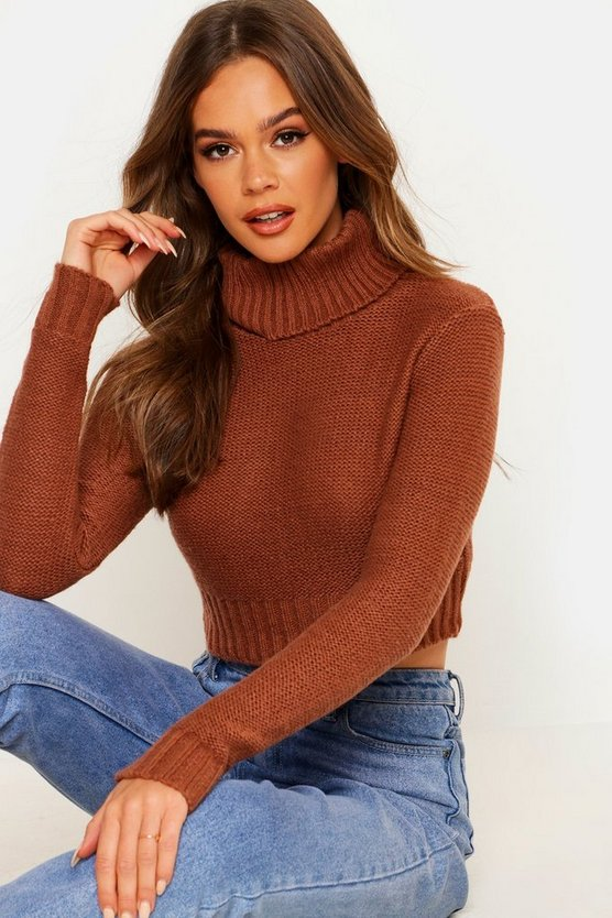 Nicole Turtle Neck Crop Jumper