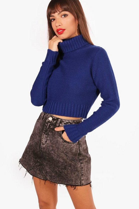 Turtle Neck Crop Jumper