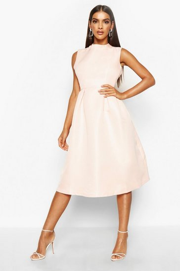 Nude Boutique High Neck Prom Dress