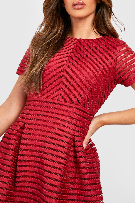 b827b466ee3 Boohoo Womens Zaira Boutique Full Skirted Prom Midi Dress