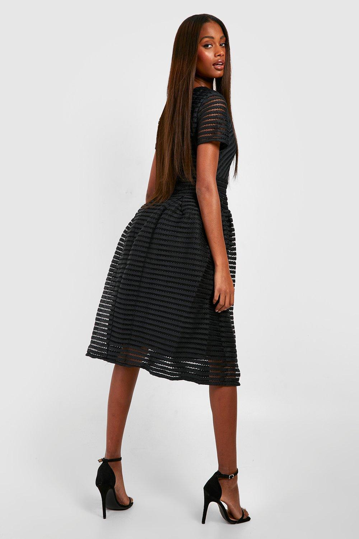 277b72a259b Boohoo Womens Zaira Boutique Full Skirted Prom Midi Dress