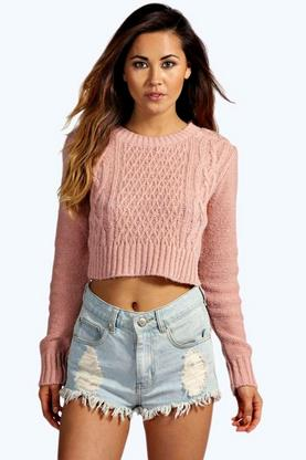 Hannah Cable Knit Crop Jumper