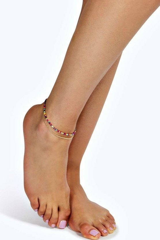 Grace Beaded Anklet
