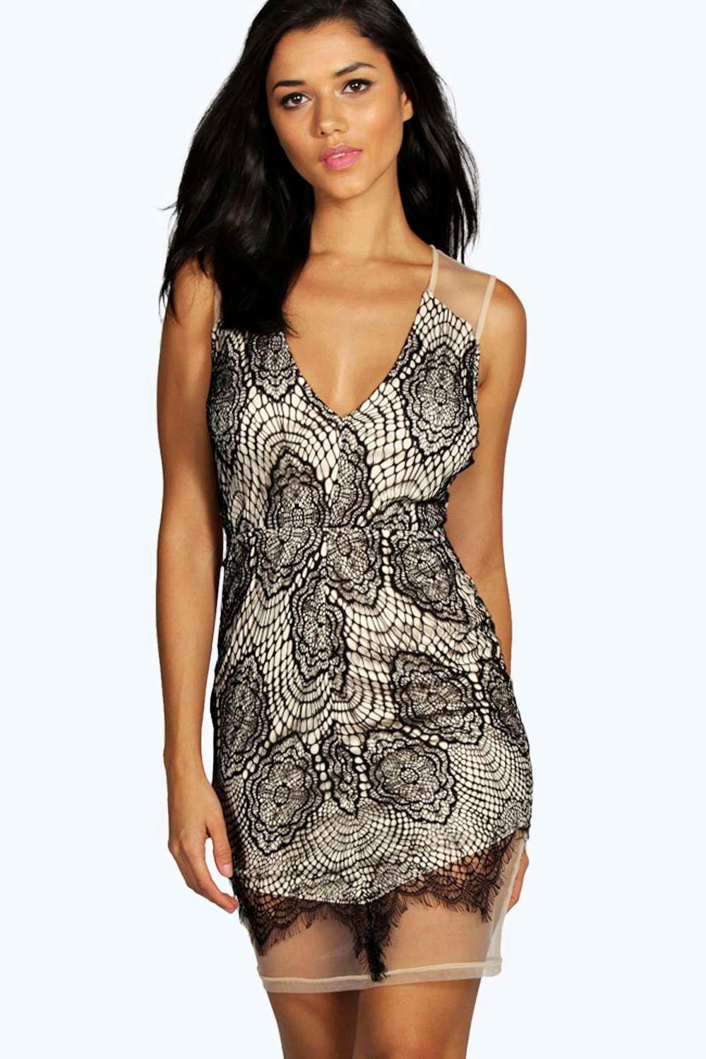 Lace and based bodycon dress