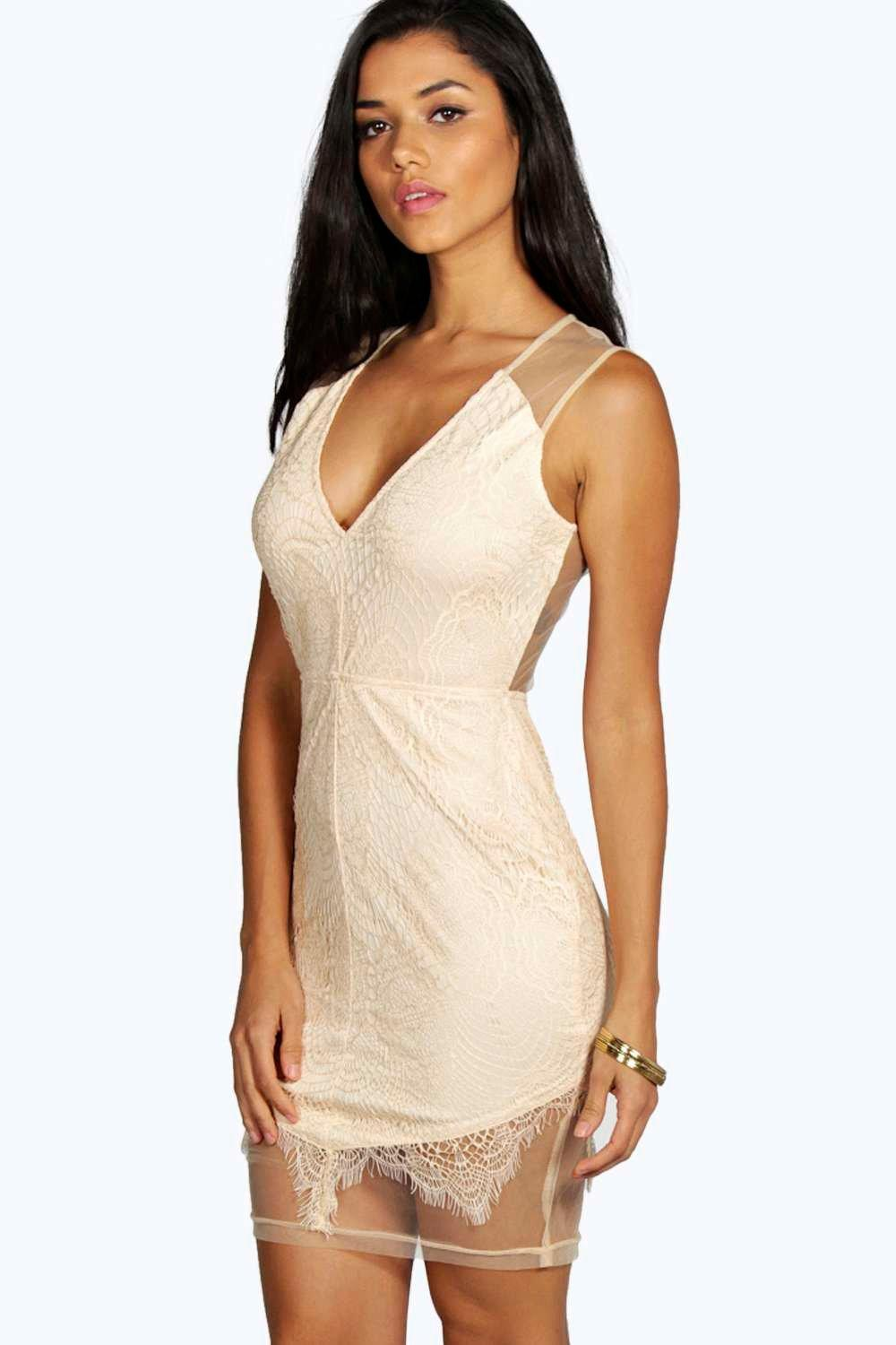 Aura Boutique Eyelash Lace Bodycon Dress