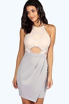 Kaia Boutique Eyelash Lace Bodycon Dress