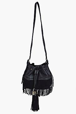 Sofia Fringed Tassel Duffle Bag