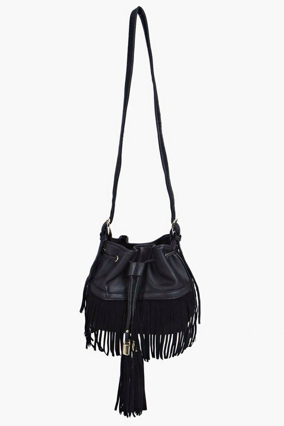 Fringed Tassel Duffle Bag
