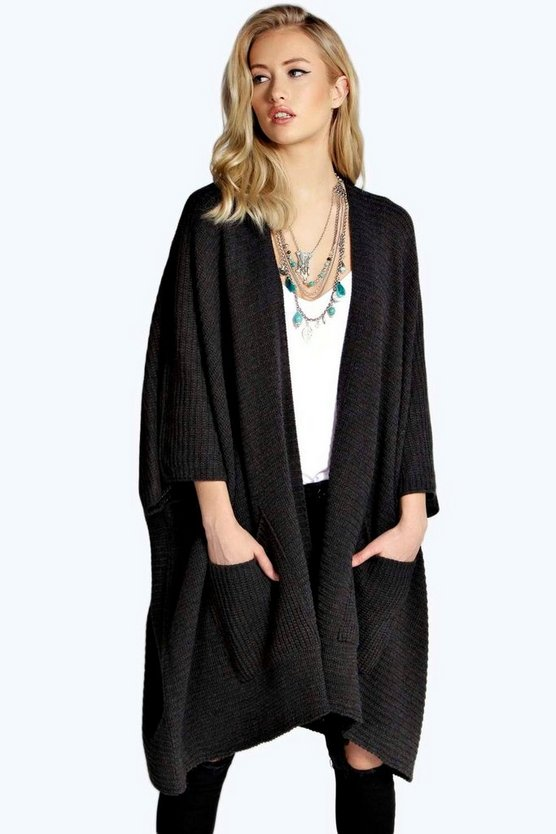 Flora Pocket Cape Cardigan