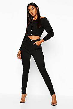 Rhea High Waisted Classic Stretch Skinny Jeans
