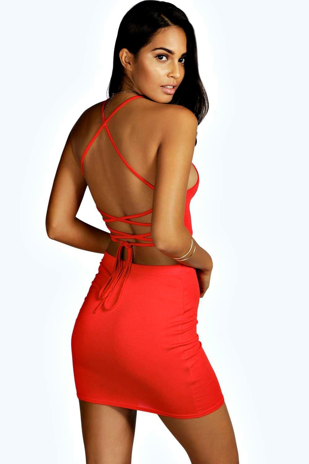 Rhiannon Strappy Back Mini Dress