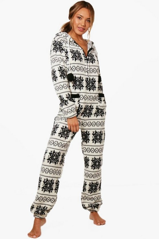 Fleece Snowflake Onesie