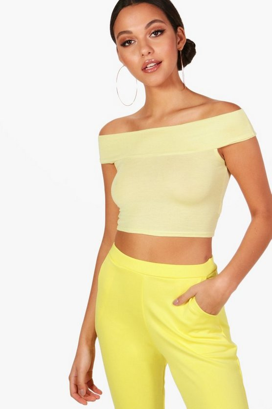Lilly Off The Shoulder Crop Top