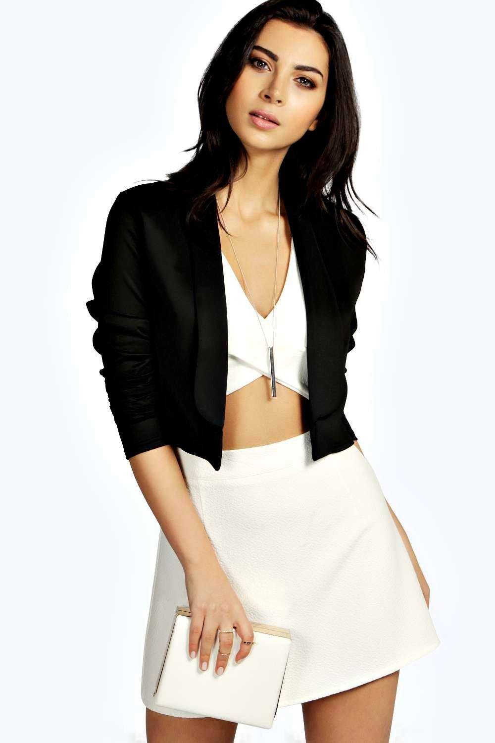 Alex Elongated Lapel Crop Blazer