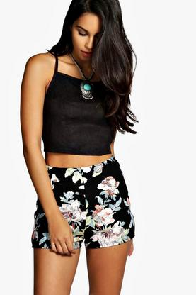 Lily Floral High Waisted Shorts
