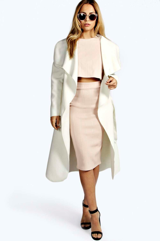 boohoo womens kate belted shawl collar coat. Black Bedroom Furniture Sets. Home Design Ideas