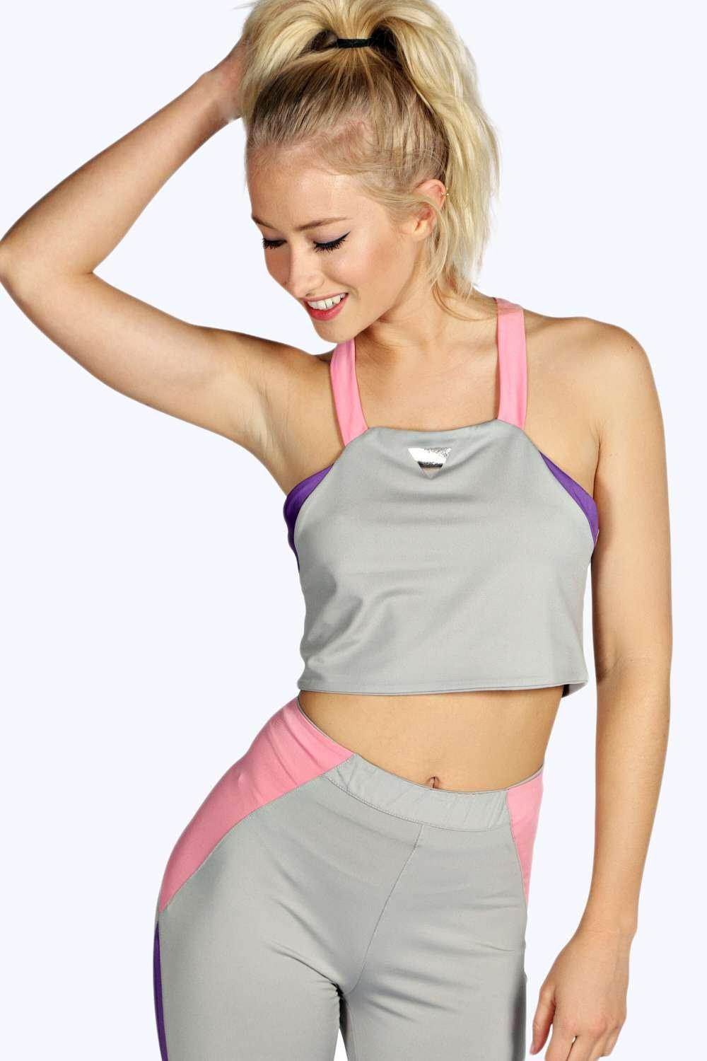 Lois Strappy Cross Back Sports Crop