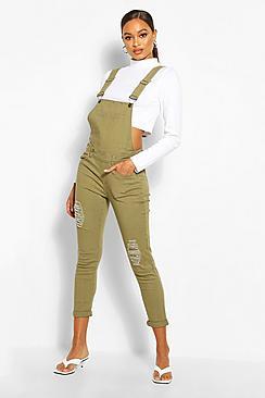 Salopette jeans a vestibilità aderente