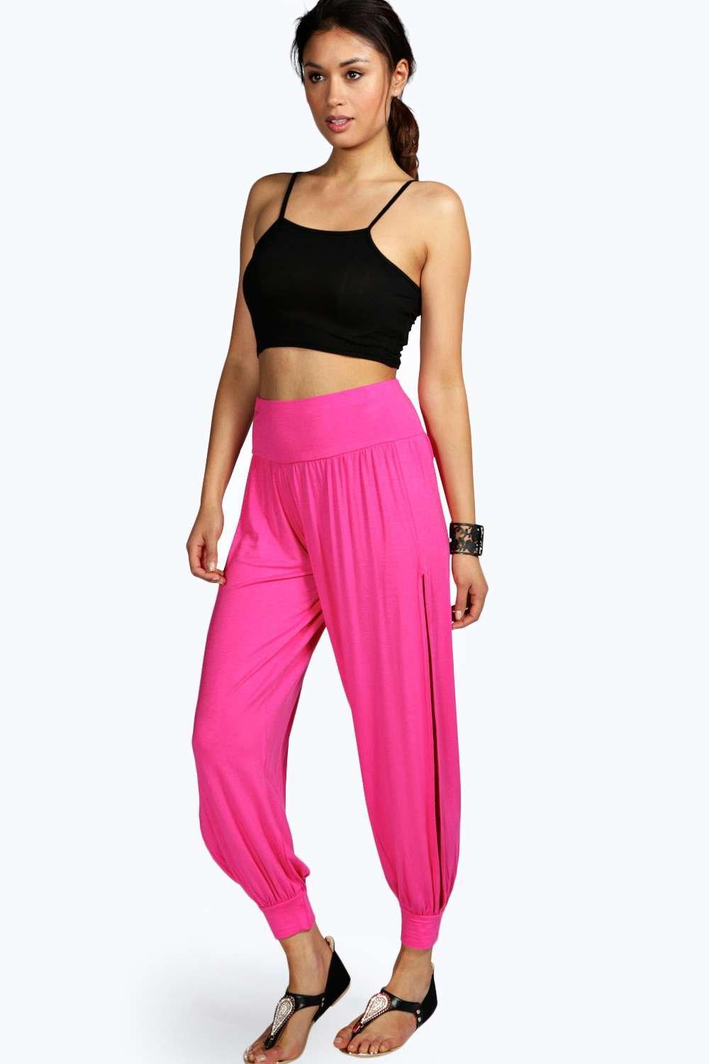 Details About Boohoo Womens Laura Side Split Jersey Hareem Trousers