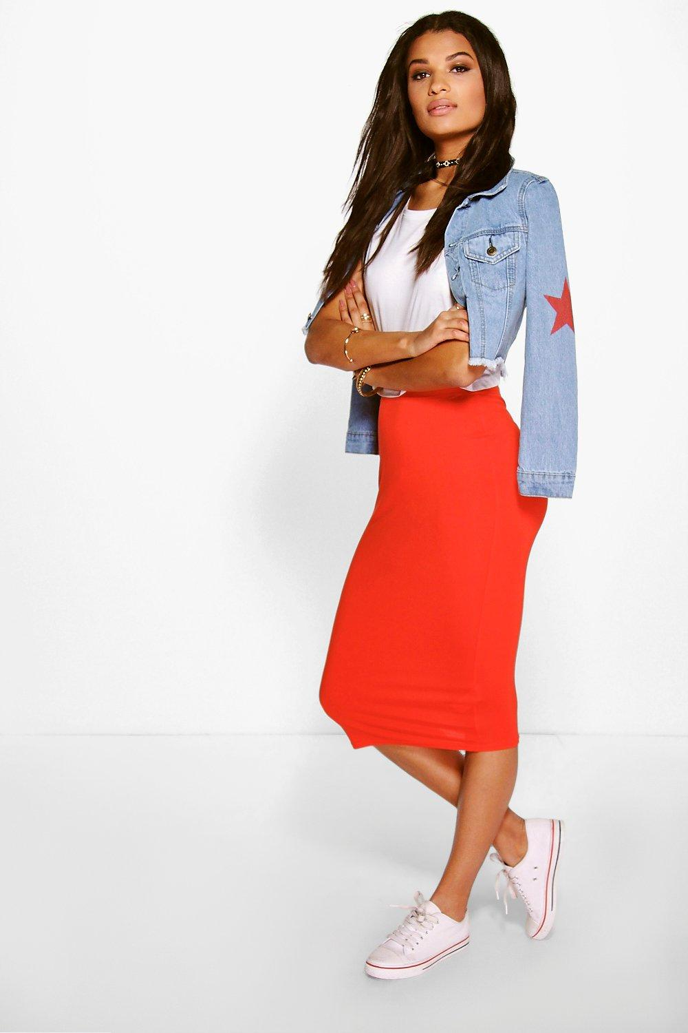Gemma Colour Block Midi Skirt