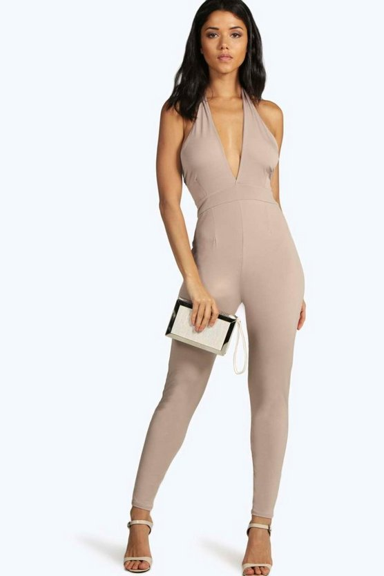 Claire Cut Out Halterneck Jumpsuit