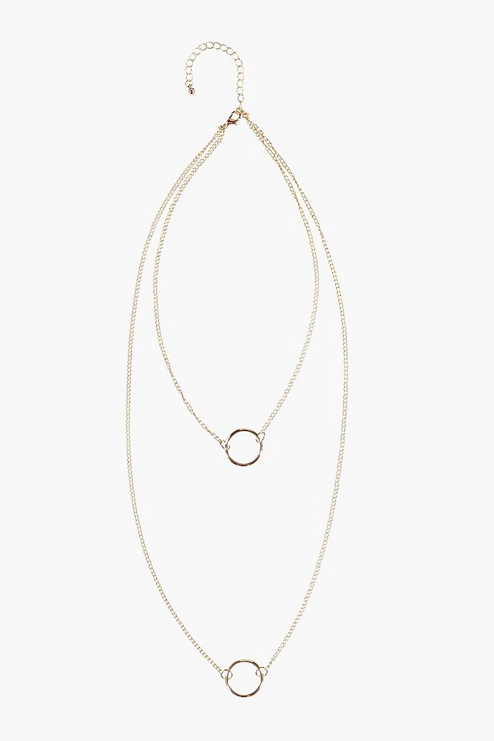 Eva Double Circle Layered Necklace