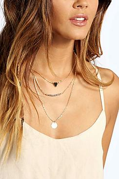 Alexis Bead And Coin Layered Necklace