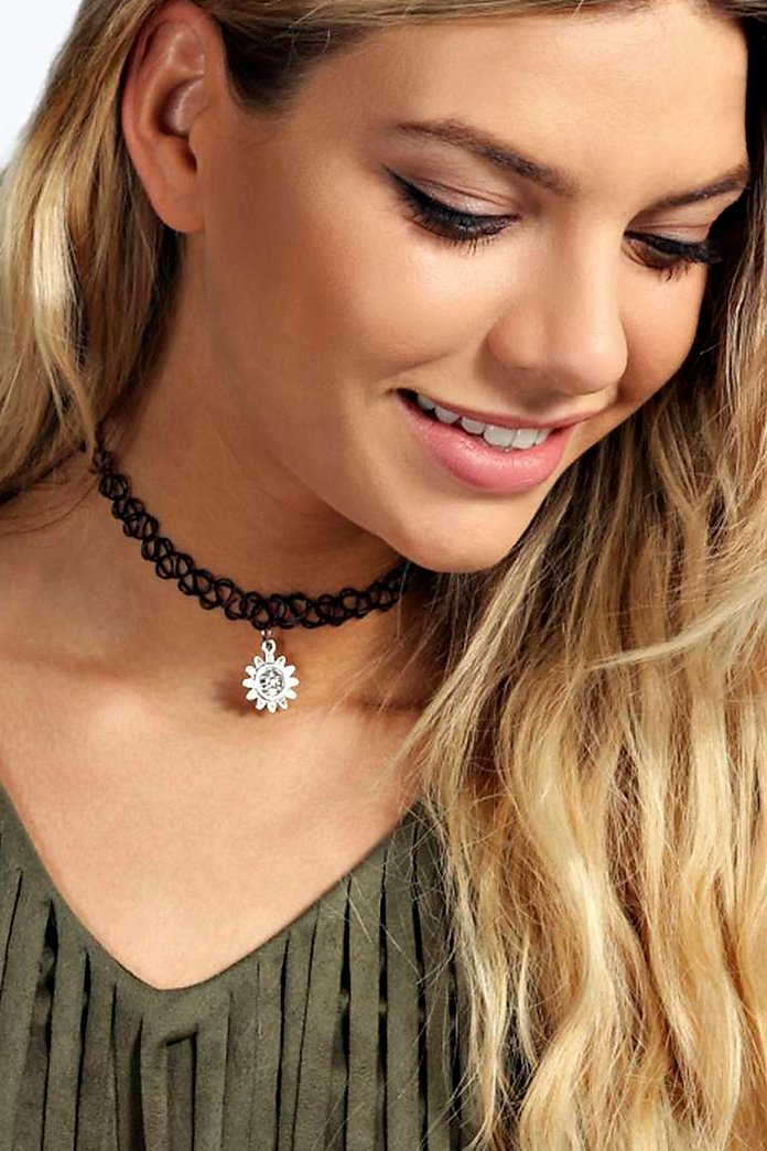 Julia Sun Stretchy Tattoo Choker