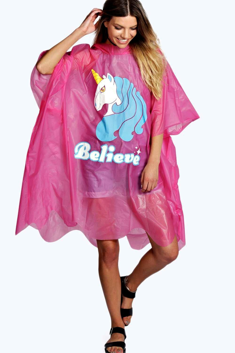 Unicorn Believe Poncho
